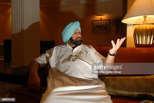 Captain Amarinder Singh Former Chief Minister of Punjab at his Residence in New Delhi India