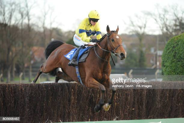 Captain Americo ridden by Nick Scholfield in the Sign Up Bonus At betinternetcom Novices' Handicap Chase during Tingle Creek Friday at Sandown...