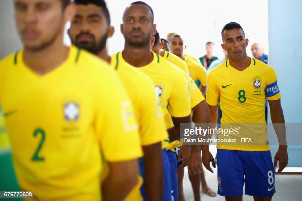 Captain Bruno Xavier of Brazil in the players tunnel prior to the FIFA Beach Soccer World Cup Bahamas 2017 semi final match between Brazil and Italy...