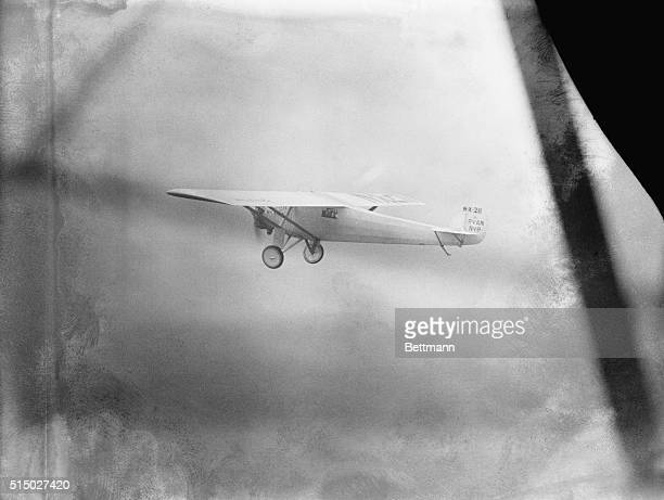 Captain Charles A Lindbergh youthful daredevil aviator hopped off from Roosevelt Field Long Island New York in his Ryan monoplane at 652 AM Eastern...