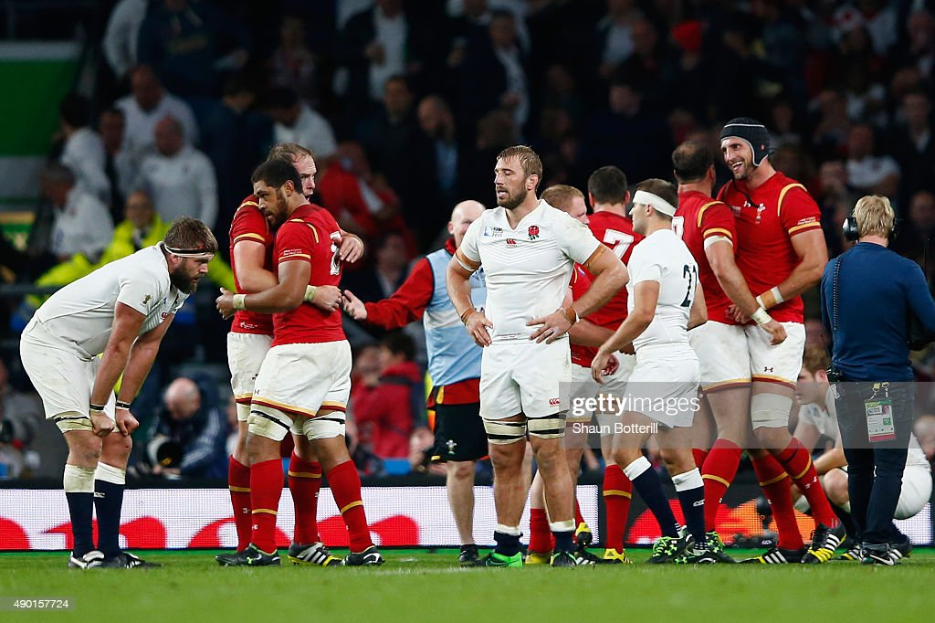 Captain Chris Robshaw of England looks dejected in defeat after the 2015 Rugby World Cup Pool A match between England and Wales at Twickenham Stadium...