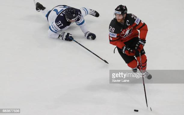 Captain Claude Giroux of Canada in action during the 2017 IIHF Ice Hockey World Championship game between Canada and Finland at AccorHotels Arena on...