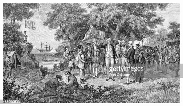 Captain Cook claims Botany Bay New South Wales Australia 1770 James Cook proclaiming New South Wales a British possession after landing there on his...