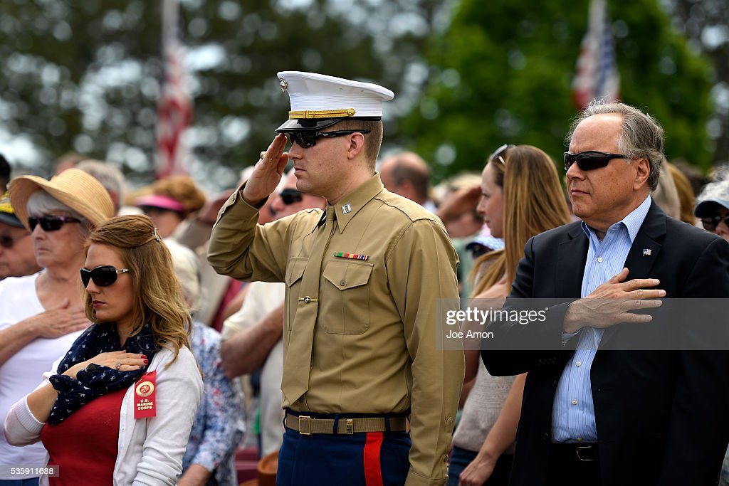 Captain Dan Schutte served during the War on Terror Memorial Day ceremony, 84th Anniversary of Remembrance at Fort Logan National Cemetery. May 30, 2016 in Denver, CO.