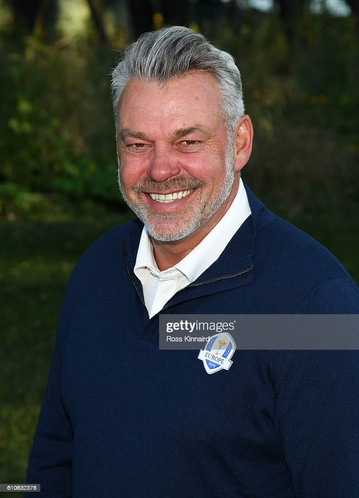 Captain Darren Clarke of Europe poses during team photocalls prior to the 2016 Ryder Cup at Hazeltine National Golf Club on September 27, 2016 in Chaska, Minnesota.