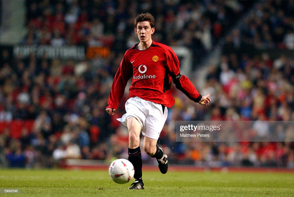 Captain David Jones of Manchester United in action during the The FA Youth Cup Final 2nd leg between Manchester United v Middlesbrough at Old...