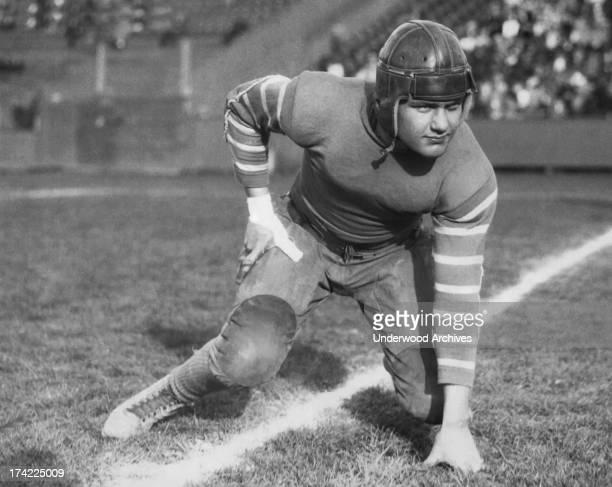 Captain Emmett Whitehead fullback on the Texas AM Commerce football team Commerce Texas 1933