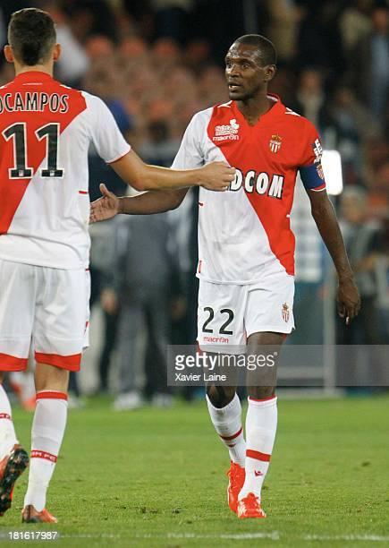 Captain Eric Abidal of AS Monaco FC during the French League 1 between Paris SaintGermain FC and AS Monaco FC at Parc des Princes on September 22...