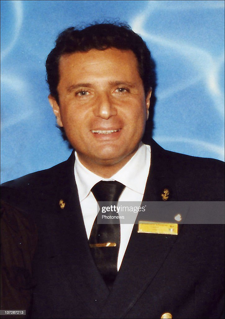 Captain <a gi-track='captionPersonalityLinkClicked' href=/galleries/search?phrase=Francesco+Schettino&family=editorial&specificpeople=8797246 ng-click='$event.stopPropagation()'>Francesco Schettino</a> of the cruise ship Costa Concordia poses for a portrait in July 2008. Schettino is under arrest and has been accused of abandoning his ship after it hit a rock off the Tuscan coast on January 13, 2012. More than four thousand people were on board when the ship began to sink. At least 11 people have been confirmed dead with another 24 missing.
