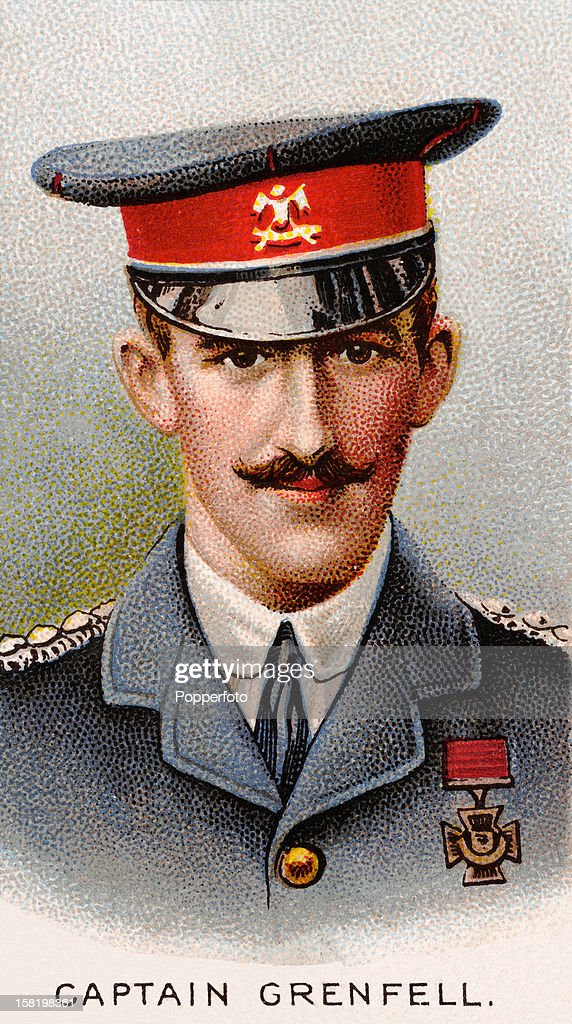 Captain Francis Grenfell of the 9th Lancers, who was awarded the Victoria Cross during World War One, featured on a vintage cigarette card published in 1915. Captain Francis Grenfell led the 9th (Queen's Royal) Lancers in the action at Audregnies, on 24 August 1914 during the Battle of Mons, against a large body of German infantry who were advancing to encircle the 5th Division. This action was later compared to the Charge of the Light Brigade since it demonstrated great bravery but accomplished little. Later in the day Grenfell and his men helped to drag away British guns which were in danger of being captured. Although not the first action of World War One (1914-1918) for which the Victoria Cross was awarded, Grenfell was the first to be gazetted, that is, officially listed in 'The London Gazette' as a recipient. The citation was for 'gallantry in action against unbroken infantry at Audregnies and for gallant conduct in assisting to save the guns of the 119th Battery, Royal Field Artillery, near Doubon the same day'. Grenfell was killed in action at Hooghe near Ypres on 24 May 1915. The first VC to be won in the war was by Lieutenant M J Dease, Royal Fusiliers, on 23 August 1914.