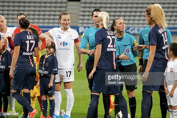Captain Gaetane Thiney of FCF Juvisy Essonne during the Women Division 1 between Paris SaintGermain FC and FCF Juvisy Essonne at Charlety on october...