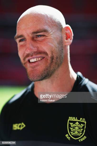 Captain Gareth Ellis during the Hull FC Captain's Run at Wembley Stadium on August 25 2017 in London England