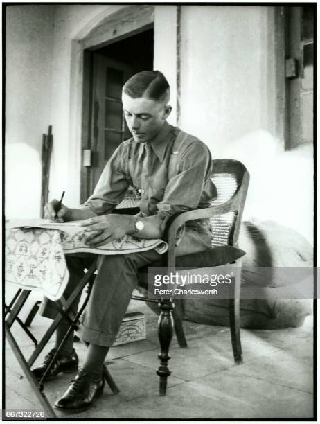 Captain 'GL Groves' in Charat' presumed to be writing a letter home Background to this image With the threat of War looming in Europe Edward...
