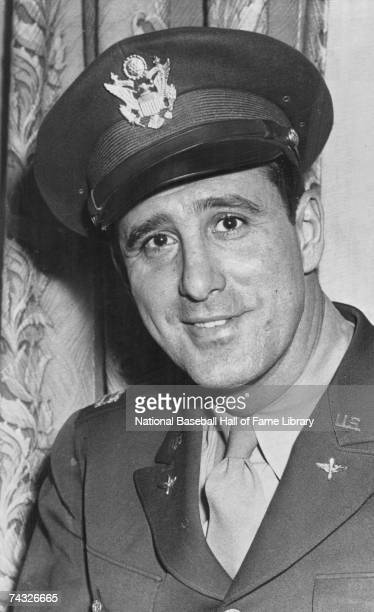Captain Hank Greenberg of the Detroit Tigers poses in his Army uniform Henry Benjamin Greenberg played for the Detroit Tigers from 19301946