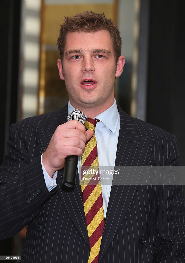 Captain Harris shows armed forces support at the 'Give Us Time' fundraiser held at Corinthia Hotel London on November 14, 2012 in London, England.