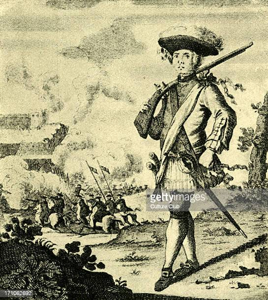 Captain Henry Morgan before Panama which he took from the Spaniards 18th century engraving
