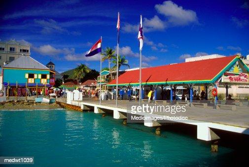 Captain Hodge Pier in Philipsburg, Saint Martin, Caribbean