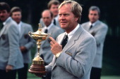 Captain Jack Nicklaus during the 27th Ryder Cup held at Muirfield Village Golf Club in Dublin Ohio September 2527 1987