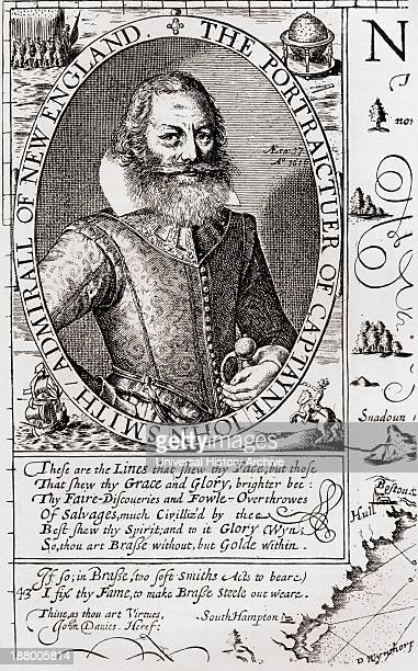 Captain John Smith C 1580 To 1631 From His 1614 Map Of New England Admiral Of New England Was An English Soldier Explorer And Author From The Book...