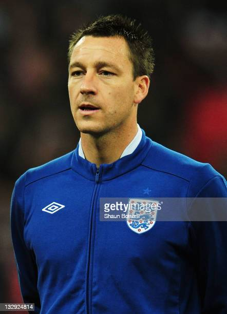 Captain John Terry of England looks on prior to the international friendly match between England and Sweden at Wembley Stadium on November 15 2011 in...