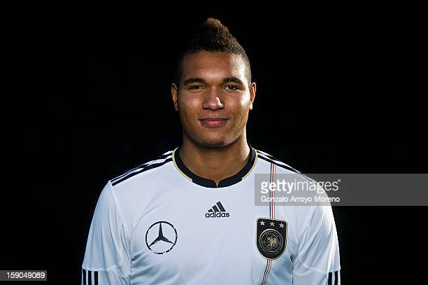 captain Jonathan Tah poses during the Germany U17 team presentation at La Manga Club training ground H on January 6 2013 in La Manga Spain