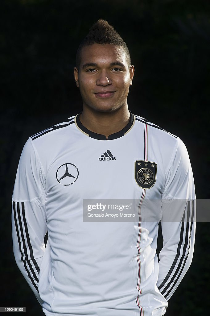 captain Jonathan Tah poses during the Germany U17 team presentation at La Manga Club training ground H on January 6, 2013 in La Manga, Spain.