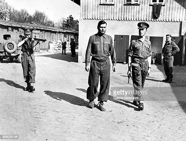 SS Captain Josef Kramer Commandant of the BergenBelsen concentration camp after his arrest by the British 15th April 1945 He was sentenced to death...