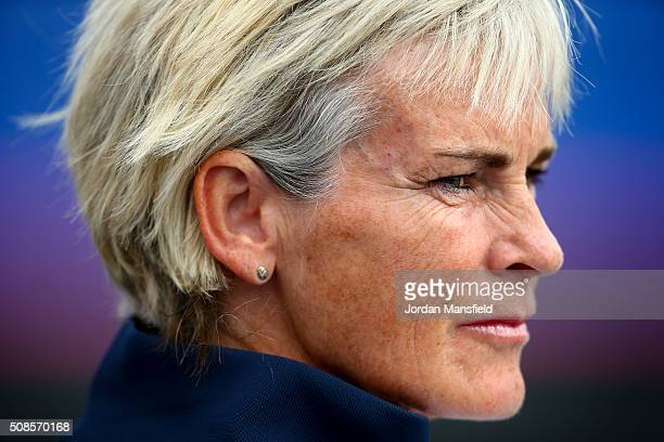 Captain Judy Murray watches on during the tie between Georgia and Great Britain on day three of the Fed Cup Europe/Africa Group One fixture at the...