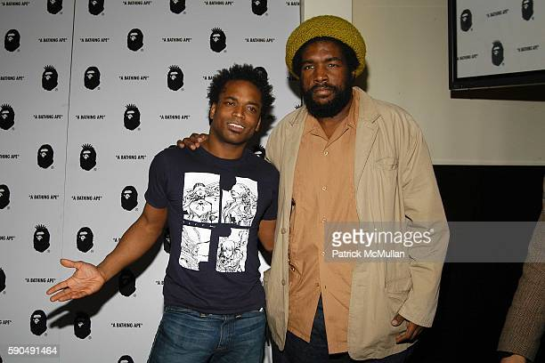 Captain Kirk Douglas and Quest Love attend After Party for Nigo's 'A Bathing Ape' Store Opening at The Canal Room on January 11 2005 in New York City