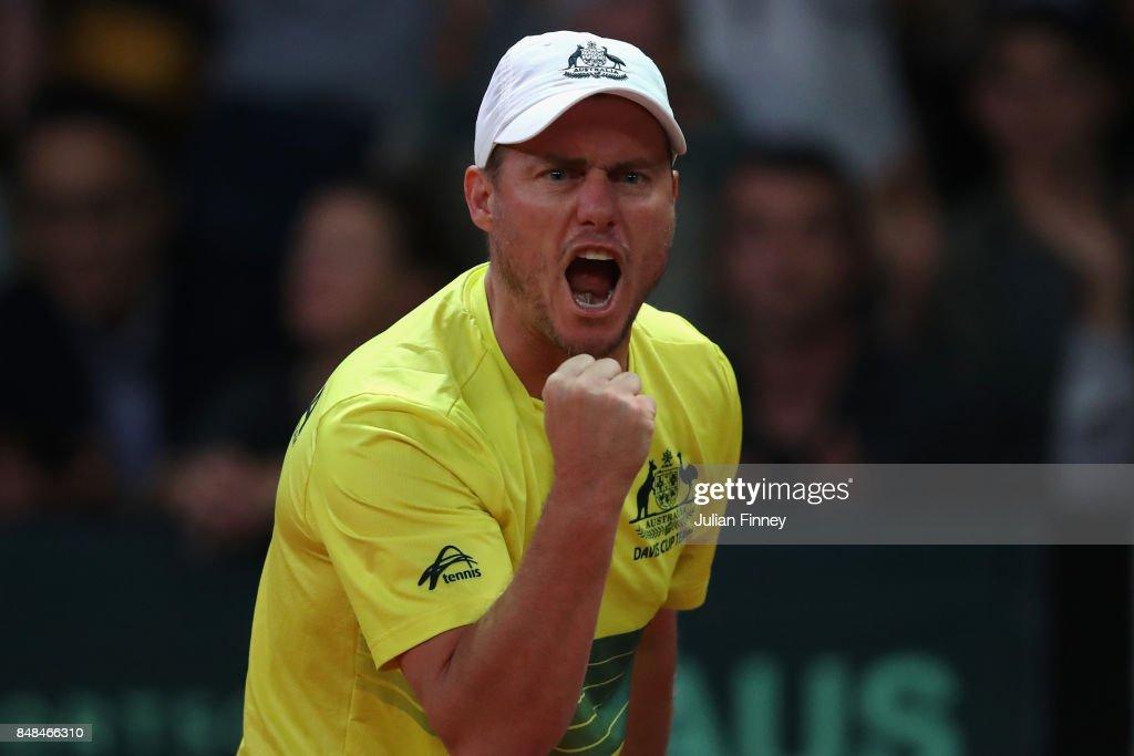 Belgium v Australia - Davis Cup World Group Semi Final: Day 3 : News Photo