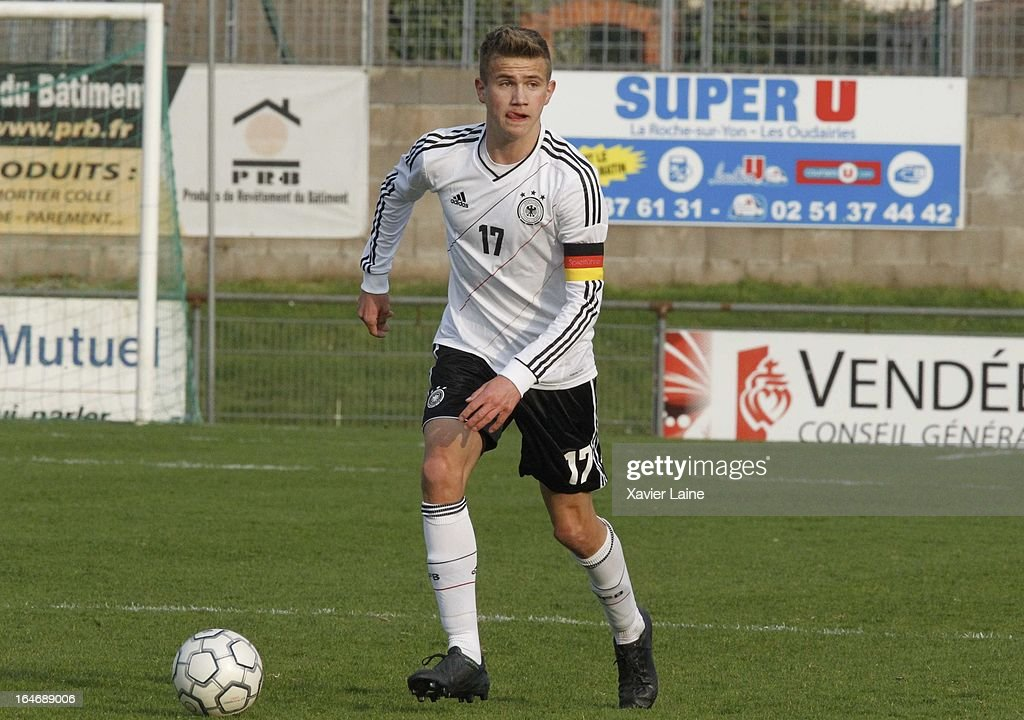 Captain Lukas Boeder of Germany during the International Friendly match between U16 Germany and U16 Chile on March 26, 2013 in La Roche-sur-Yon, France.