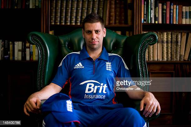 Captain Matthew Dean poses for the camera during the England Blind Cricket Squad Headshots on May 28 2012 in Worcester England
