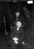 Captain Michael P Evans of the Chicago Police Department's 'Bureau of Identification' poses with the dead body of Russianimmigrant Lazarus Averbuch...
