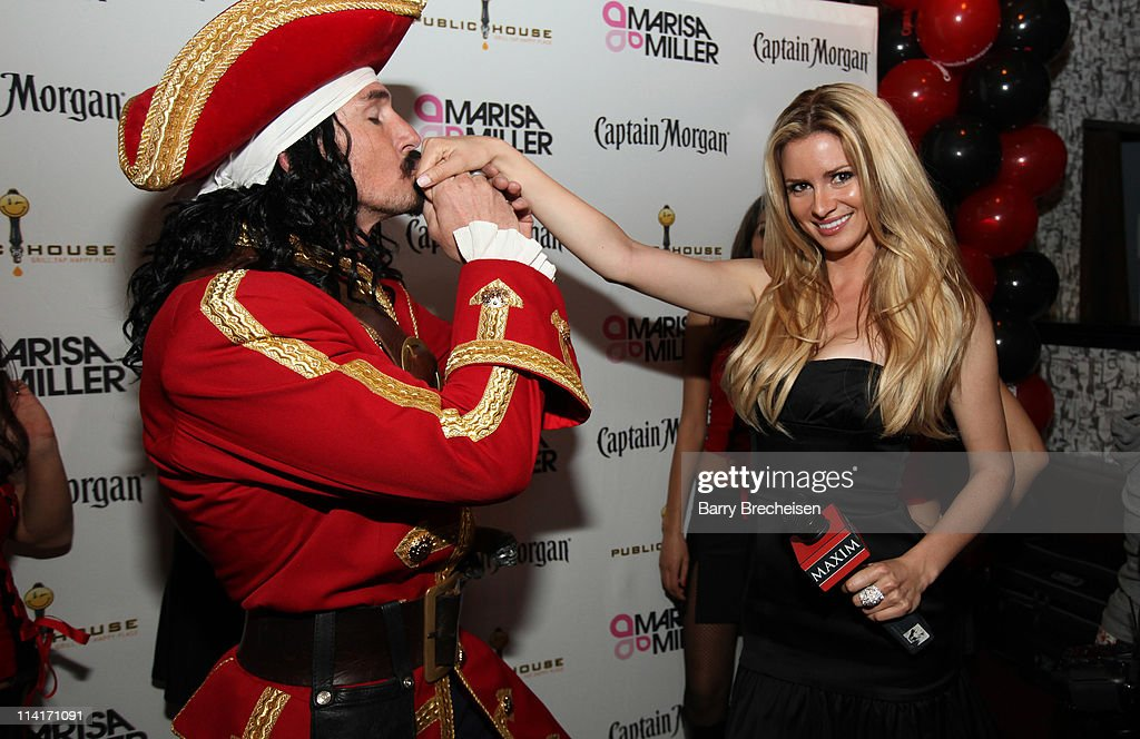 Captain Morgan and Maxim Hometown Hottie Winner April Rose attend the Marisa Miller and Maxim Host Legendary Birthday Party for Captain Morgan at Public House on May 13, 2011 in Chicago, Illinois.
