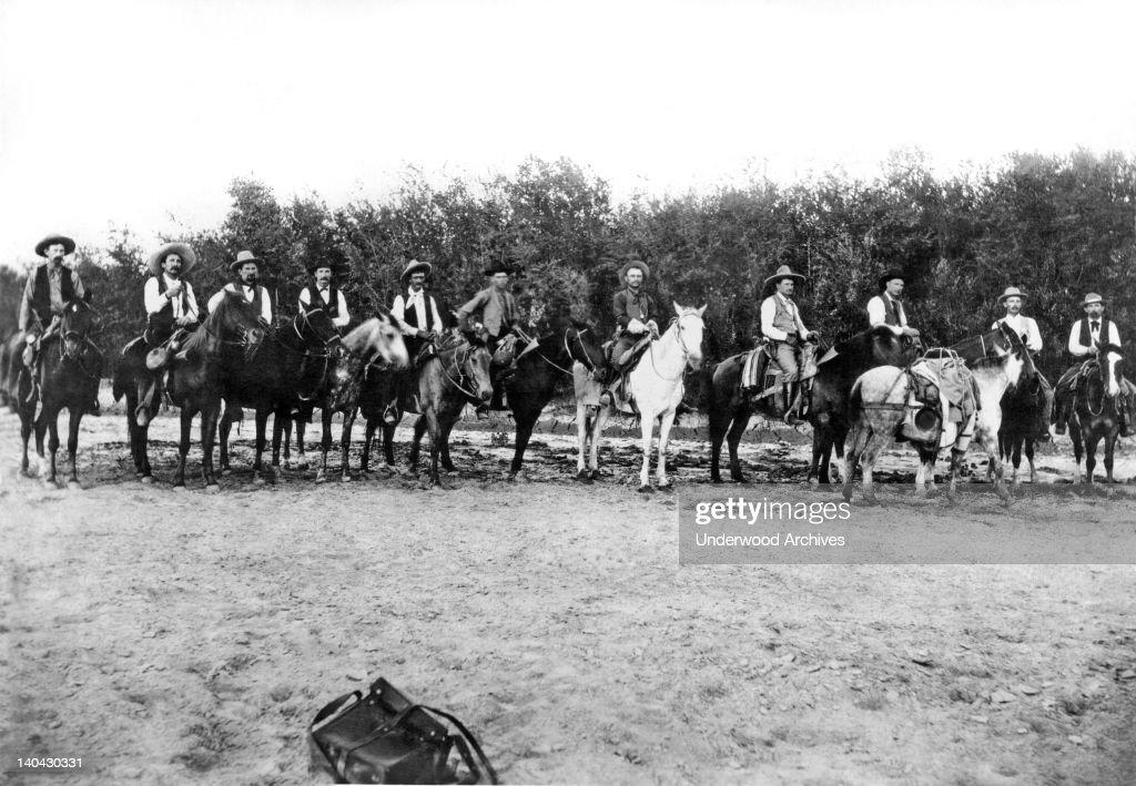 Captain Neal Coldwell's Frontier Battalion of the Texas Rangers Lela Texas circa 1885