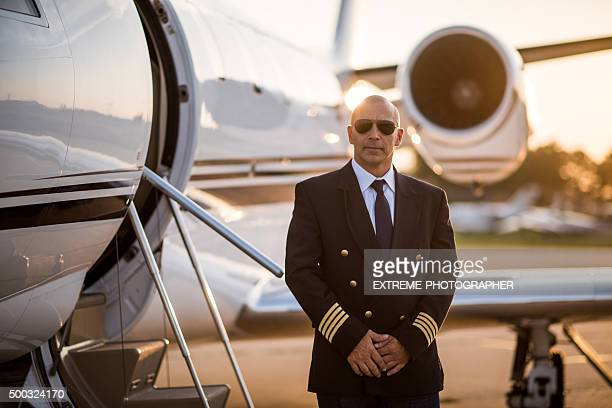 Captain of private jet airplane