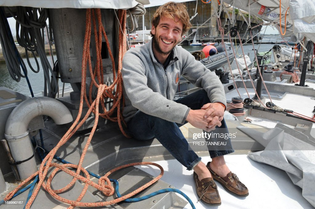 Captain of the French Tara Oceans boat Loic Valette poses on the boat on May 18, 2013, in Lorient, western France, on the eve of its departure for a 25.000km tour of the Arctic ocean that will last seven months. French Tara Oceans boat navigates across all the world's major oceans to sample and investigate microorganisms in the largest ecosystem on the planet.