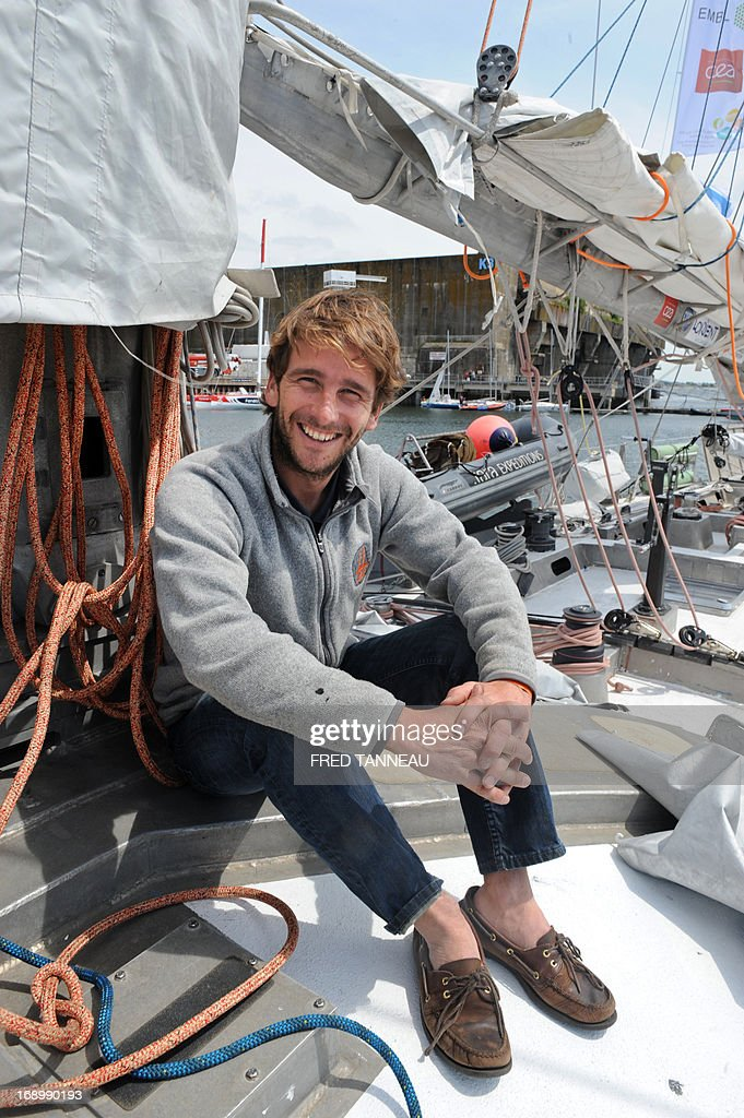 Captain of the French Tara Oceans boat Loic Valette poses on the boat on May 18, 2013, in Lorient, western France, on the eve of its departure for a 25.000km tour of the Arctic ocean that will last seven months. French Tara Oceans boat navigates across all the world's major oceans to sample and investigate microorganisms in the largest ecosystem on the planet. AFP PHOTO / FRED TANNEAU