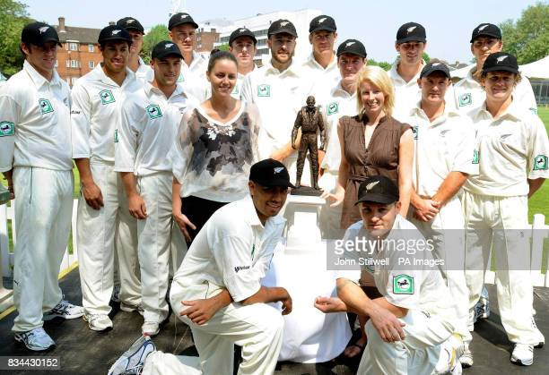 Captain of the New Zealand Cricket team Dan Vettori and the rest of the New Zealand Cricket team with Leigh Park and Laurette Cummins who are the...