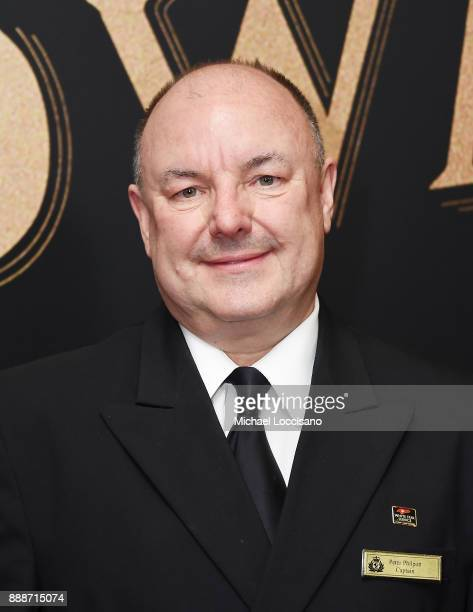 Captain of the Queen Mary 2 Peter Philpott attends the 'The Greatest Showman' World Premiere aboard the Queen Mary 2 at the Brooklyn Cruise Terminal...