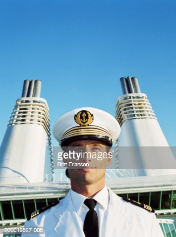 Captain on ship, close-up