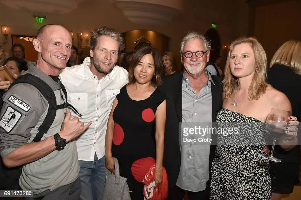 Captain Pete Bethune Tobias Gad Li Gad Thomas D Mangelsen and Jamie Joseph attend the Elephant Action League Los Angeles Benefit Auction at The...