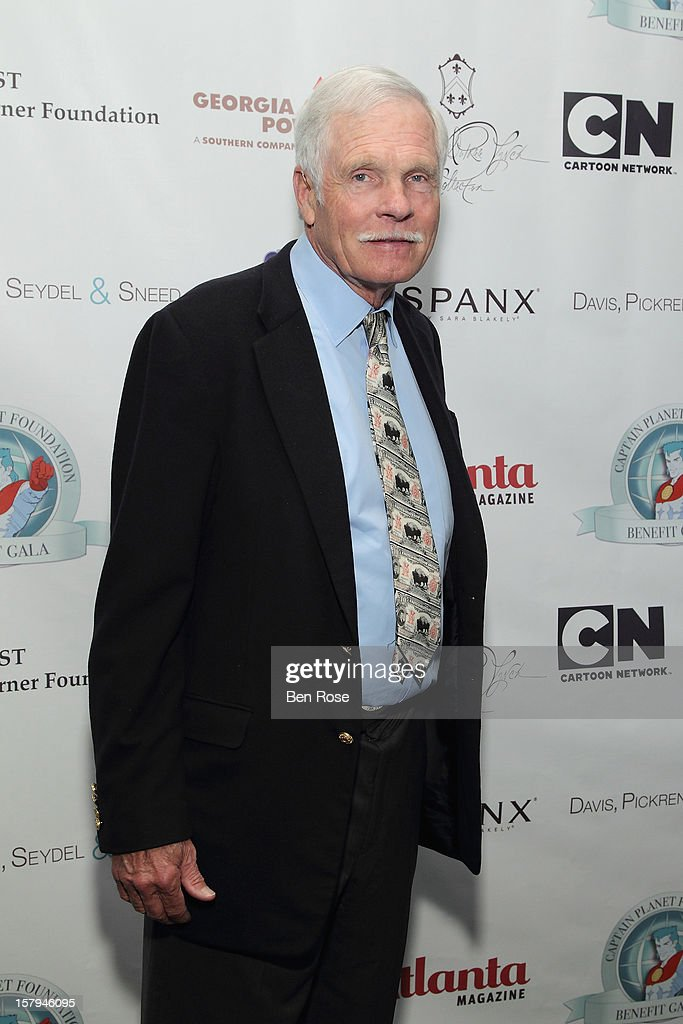 Captain Planet Foundation Co-Founder <a gi-track='captionPersonalityLinkClicked' href=/galleries/search?phrase=Ted+Turner+-+Businessman&family=editorial&specificpeople=203000 ng-click='$event.stopPropagation()'>Ted Turner</a> attends the Captain Planet Foundation's benefit gala at Georgia Aquarium on December 7, 2012 in Atlanta, Georgia.