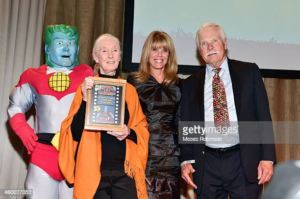 Captain Planet primatologist DrJane Goodall Laura Turner Seydel and Ted Turner attend the captain planet foundation Gala at Intercontinental Buckhead...