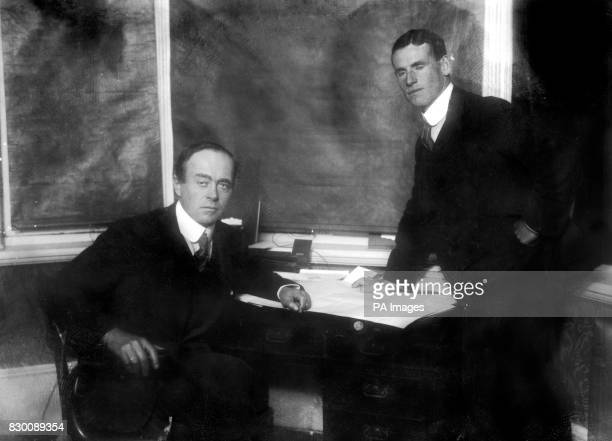 Captain Robert Falcon Scott RN and Lieutenant Teddy Evans of the illfated British expedition to Antarctica Scott and his men attempted to be the...