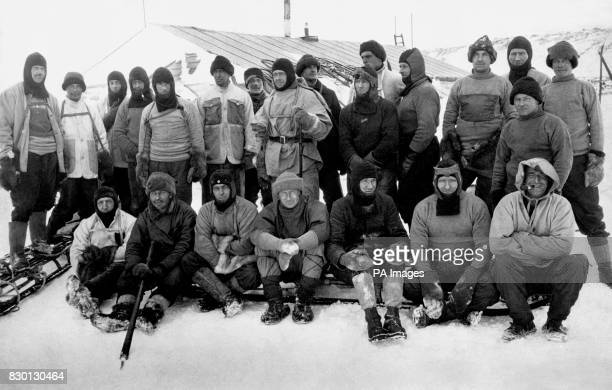 Captain Robert Falcon Scott RN and members of the illfated British expedition to Antarctica Scott and his companions reached the South Pole but were...