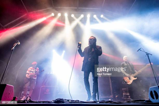 Captain Sensible Dave Vanian and Stu West of The Damned perform in concert during day 2 of Primavera Sound 2017 on June 1 2017 in Barcelona Spain
