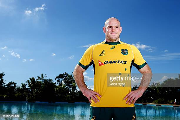 Captain Stephen Moore poses during the Australian Wallabies captaincy announcement at Sanctuary Cove on June 2 2014 in Gold Coast Australia