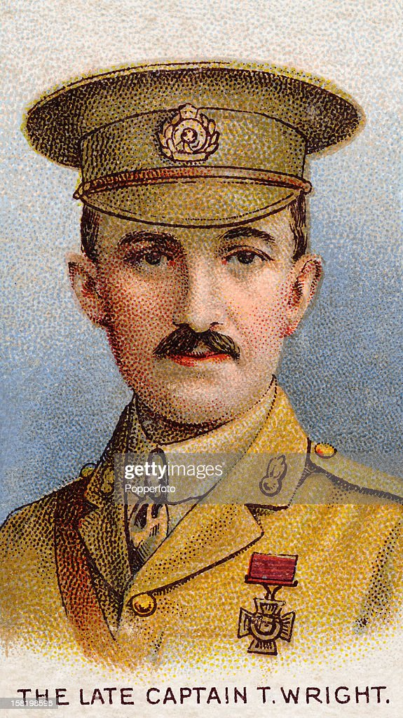 Captain Theodore Wright of the Royal Engineers who was awarded the Victoria Cross during World War One, featured on a vintage cigarette card published in 1915. At the start of the First World War Captain Wright was serving in the 56th Field Company of the Royal Engineers. He was immediately sent to France with the British Expeditionary Force and arrived at Mons on 22nd August, 1914. The following day he was detailed to supervise the destruction of eight of the bridges over the canal. Although wounded by shrapnel early in the operation, Wright continued to set charges under the bridges. Working with Lance-Corporal Charles Jarvis, Wright managed to destroy Jemappes Bridge. Captain Theodore Wright recovered from his wounds but on the 14th September he was killed while helping an injured man across a pontoon bridge at Vailly. The Victoria Cross was awarded posthumously on 16th November 1914.