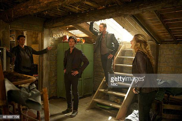 REVOLUTION 'Captain Trips' Episode 212 Pictured Billy Burke as Miles Matheson Mat Vairo as Connor David Lyons as Sebastian Monroe Elizabeth Mitchell...